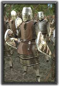 Dismounted Frankish Knights