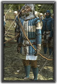 Dismounted French Archers 法蘭西步行弓騎兵
