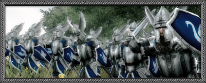 Dismounted Swan Knights