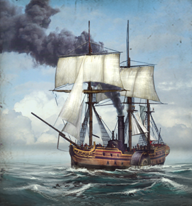 Steam Paddle Frigate